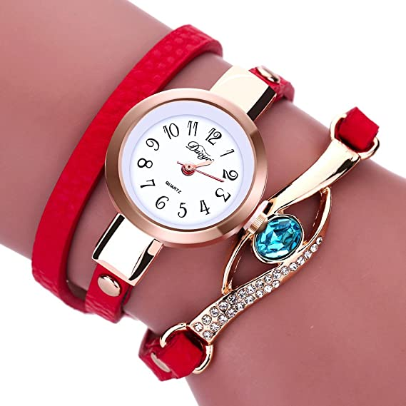 Amazon.com: Ladies Watch Bracelet,Fashion Circle Wrap Around Wristwatch Diamond Student Clock: Cell Phones & Accessories