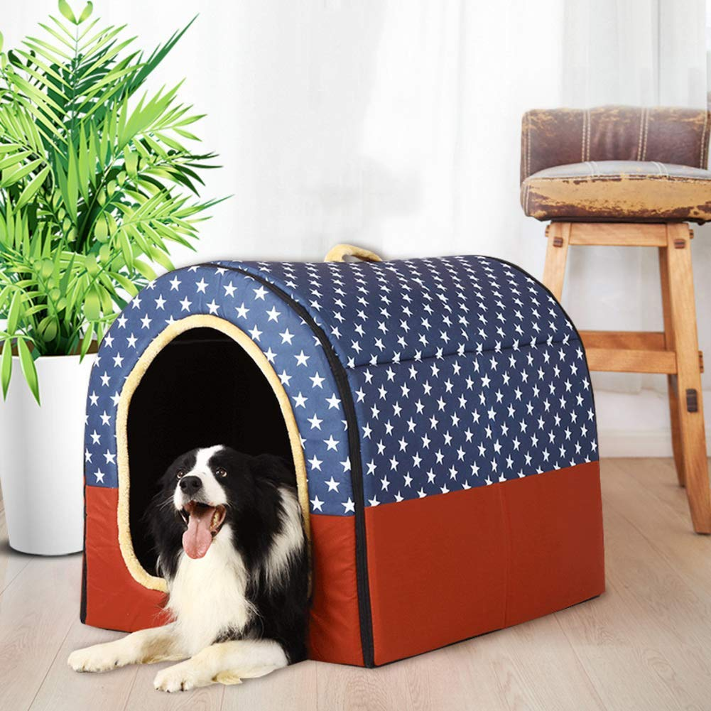 Large Lightweight Portable Dog Bed, Durable Non-Skid Removable Cover Cat Pet Nest Washable Kennel Pet Nest Four Seasons Universal,L