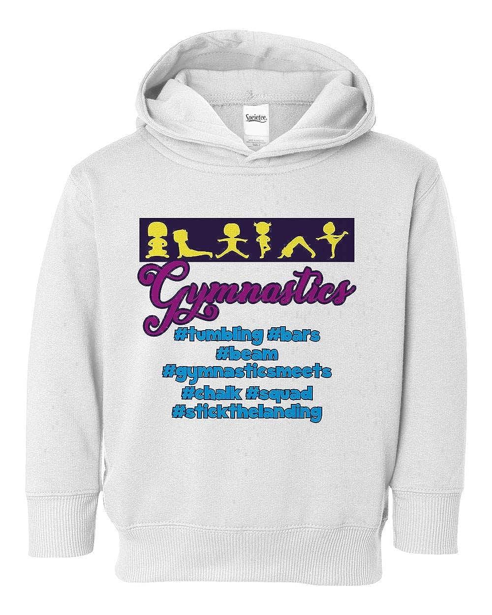 Societee Hashtag Gymnastics Sports Cute Girls Toddler Hooded Sweatshirt