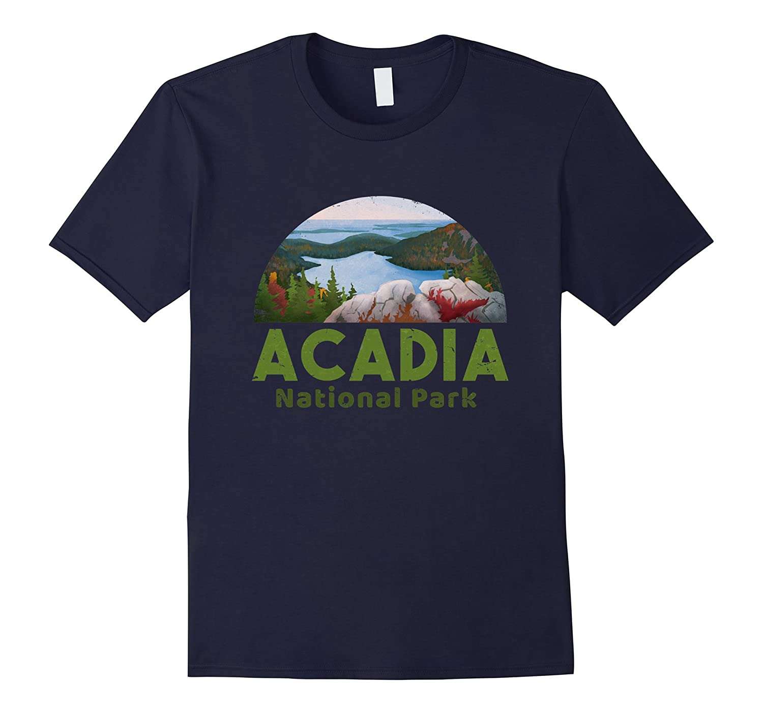 Acadia National Park T shirt Camp Hike Canoe guide-TH