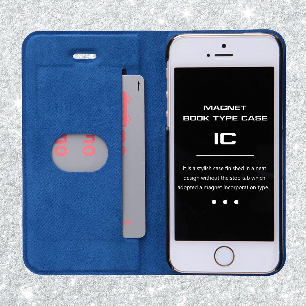 c8ea74172c Amazon   レイ・アウト iPhone SE/5s/5 ケース 手帳型ケース マグネットタイプ ネイビー RT-P11SLC3/N    家電&カメラ オンライン通販