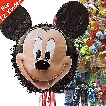 Juego de piñata de Mickey Mouse con piñata Gigante + 100 ...