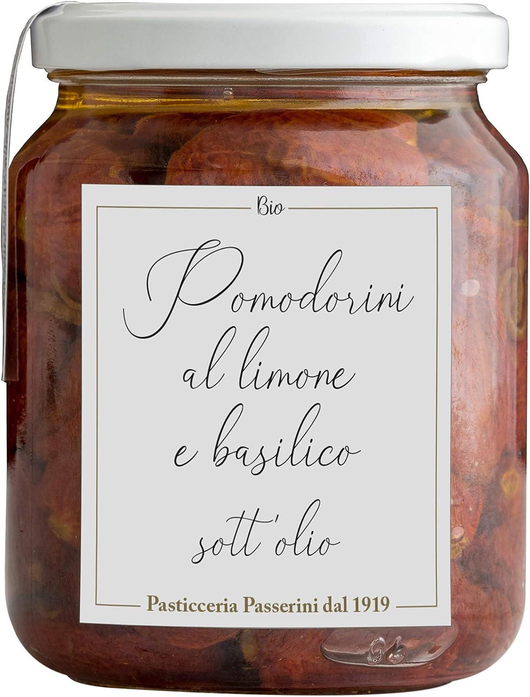 Pasticceria Passerini dal 1919 Conserva de Tomates Cherry en Aceite con limón y albahaca - 390 gr
