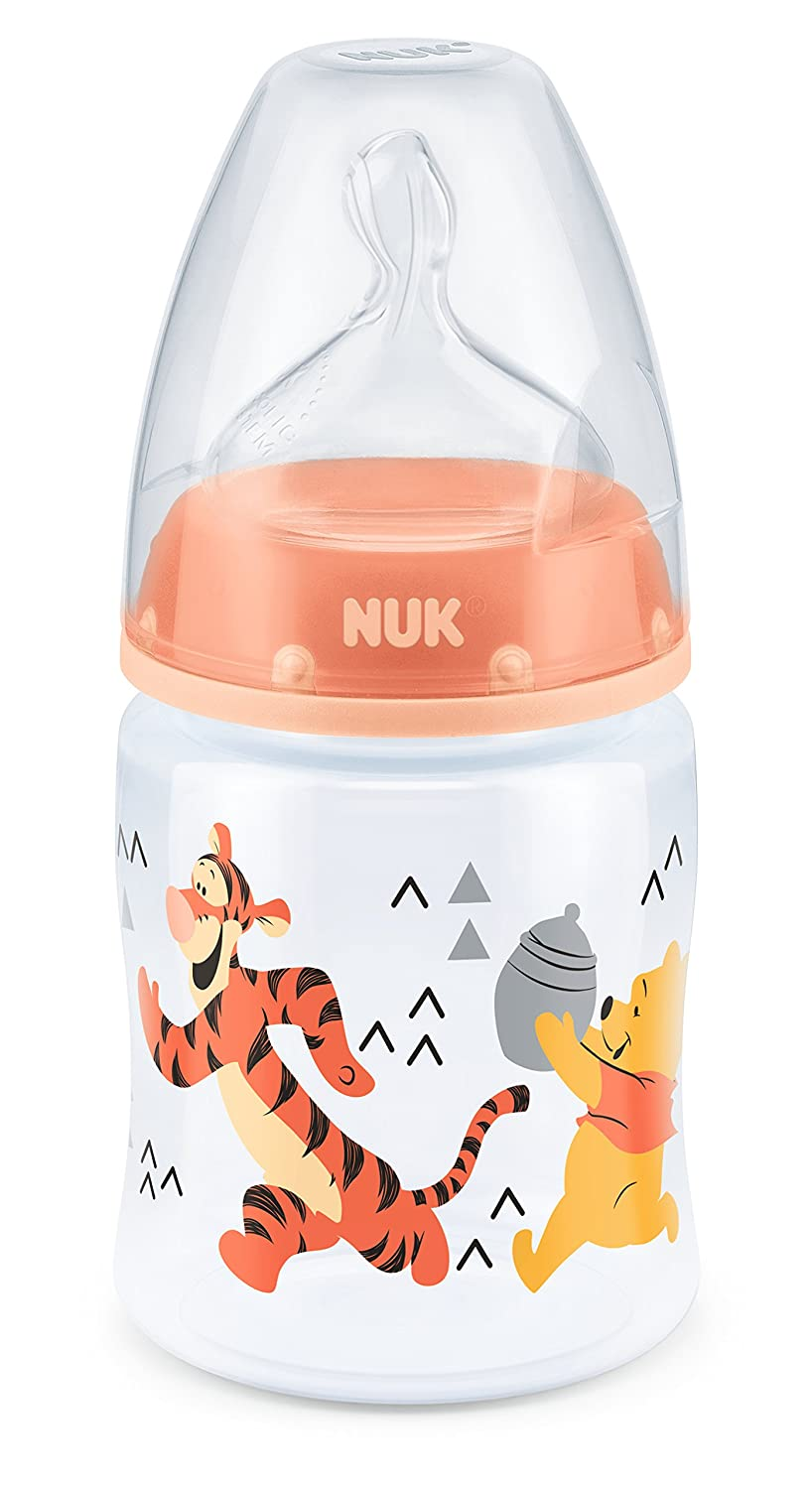NUK First Choice+ Winnie The Pooh 150ml Bottle with Silicone Teat (0-6m, design may vary) Mapa Spontex (UK) Ltd 10743700