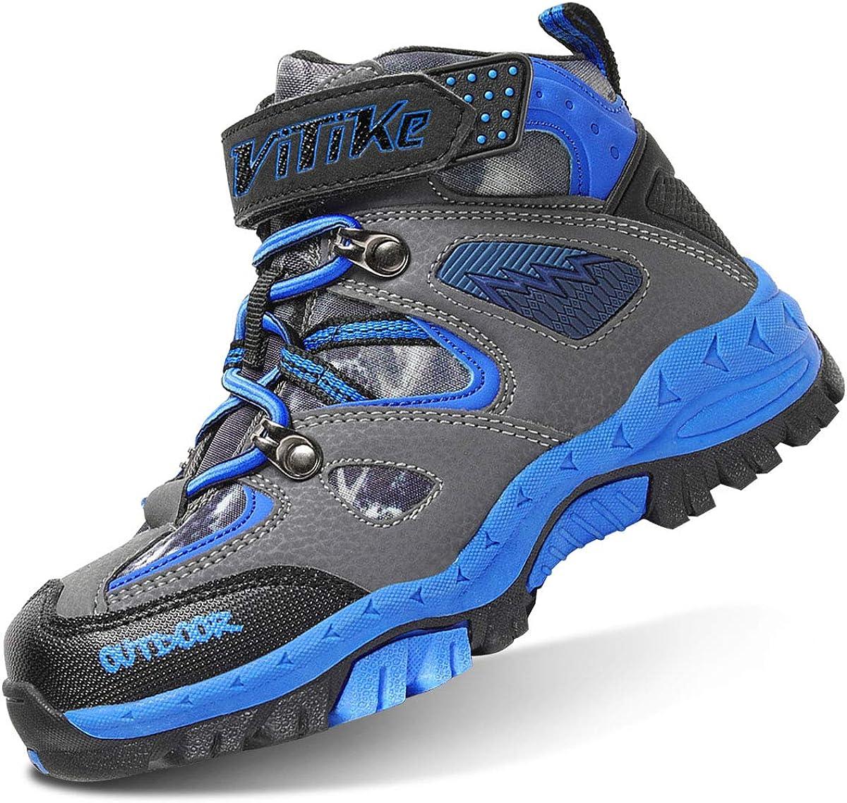 brooman Kids Waterproof Hiking Boots Boys Girls Outdoor Adventure Shoes