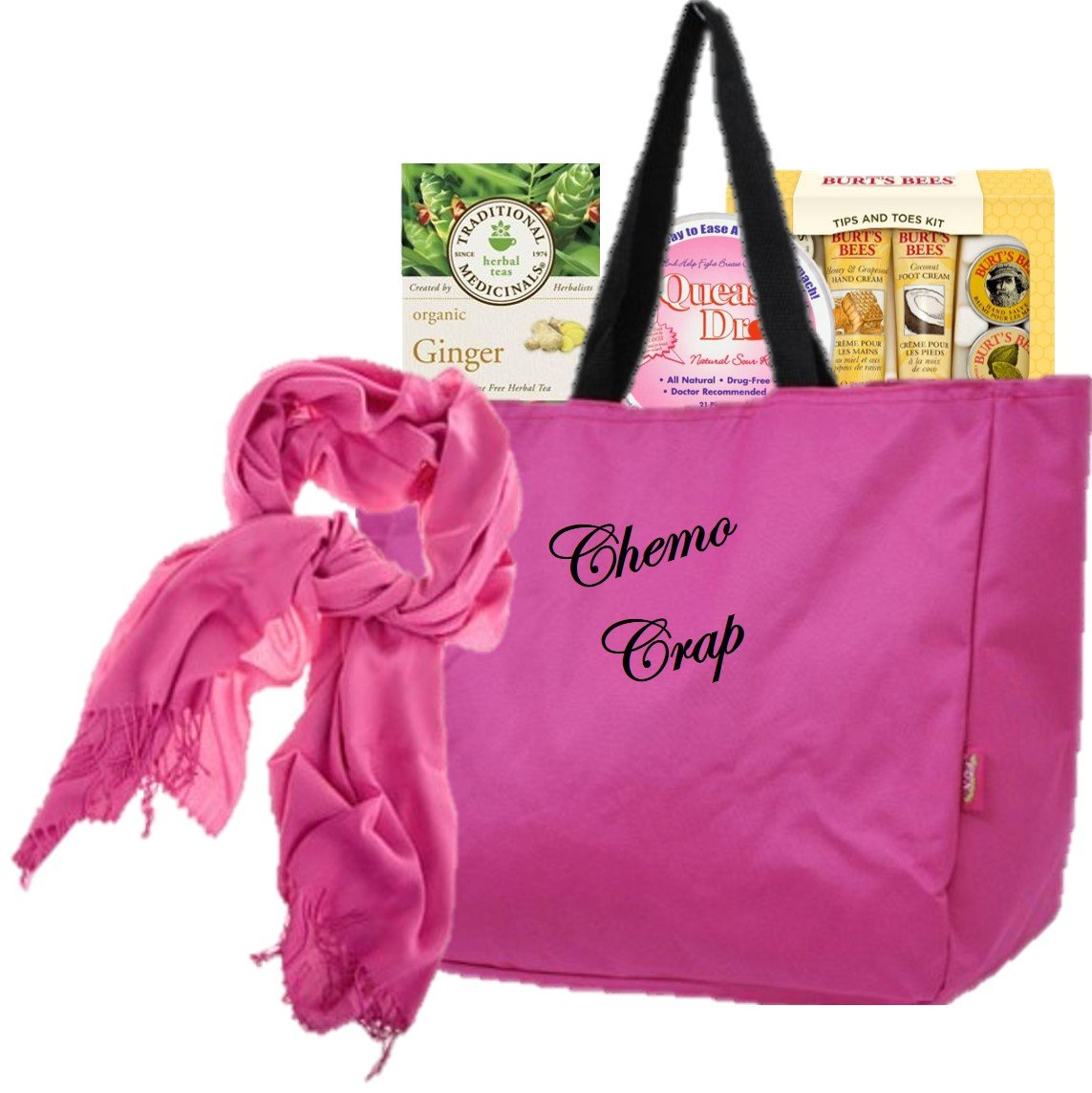 Just Don't Send Flowers Something Perfect Breast Cancer Gift for Women - Chemo Crap by Just Don't Send Flowers