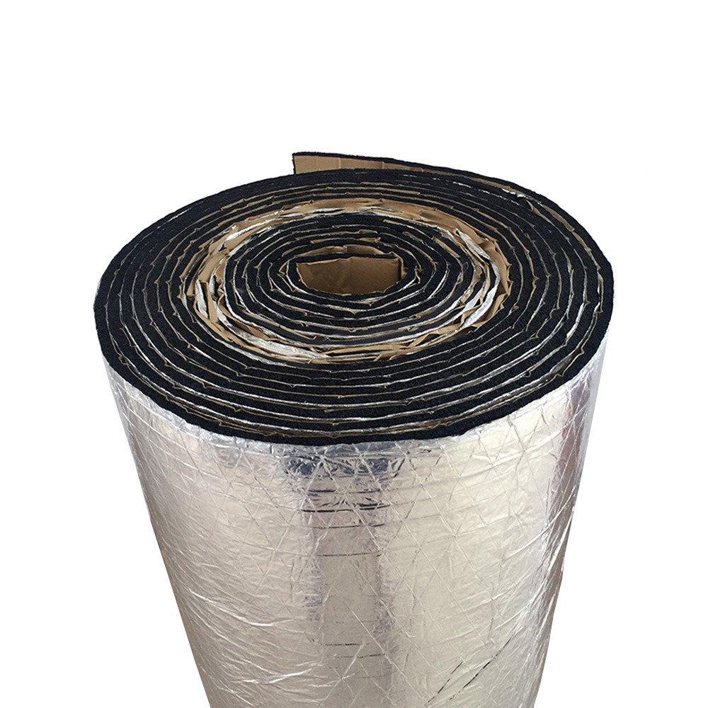Supmico 1 rotolo auto insonorizzazione isolamento fonoassorbente chiuso Antirombo Antivibrante Fibra di vetro Adesivo Stuoia 7mm 50cm X 300cm