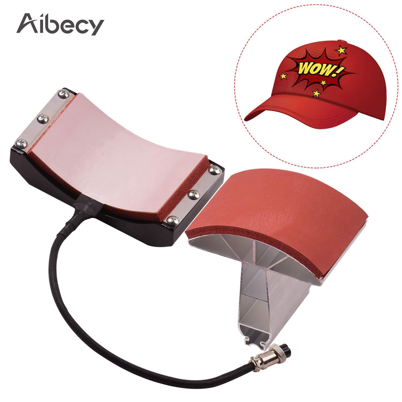 Entweg Hat Press,Hat Cap Press Heating Transfer Attachment Silica Gel 5.5x3 Inch 220V for Heat Press Machine Hat Heating Machine
