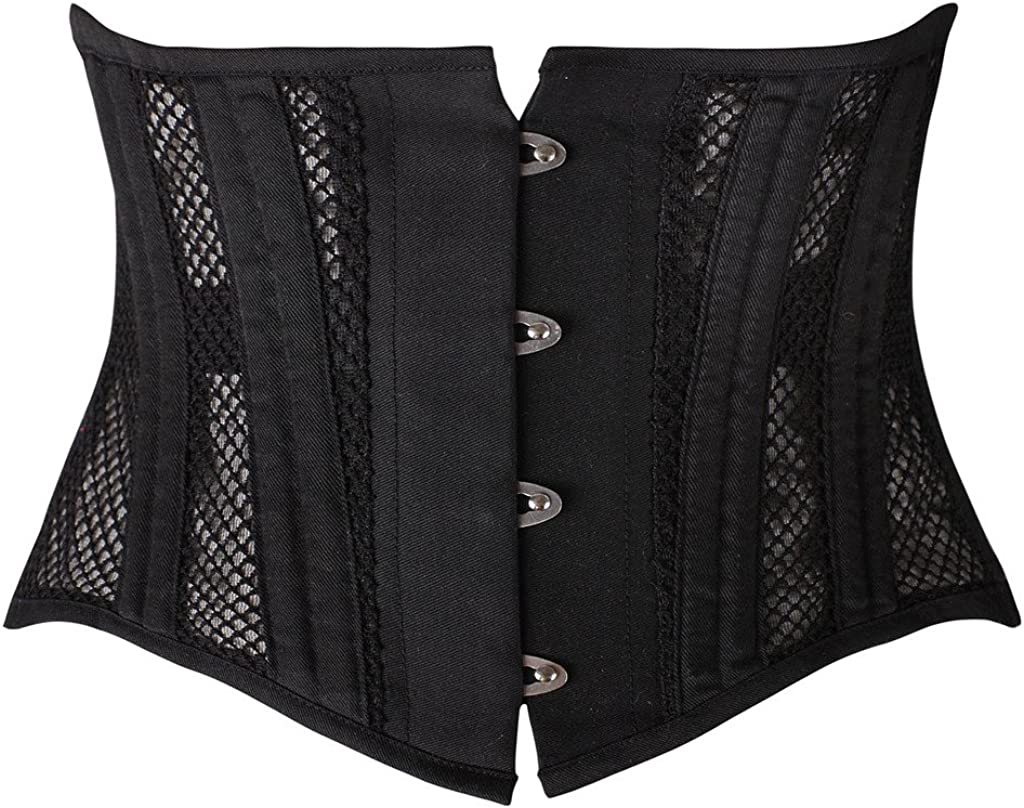 SHAPERX Women's 26 Steel Boned Corset Short Torso Heavy Duty Waist Training Corsets
