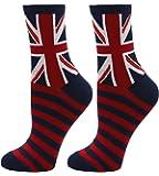 Women Uk Flag Print British Flag Colorful Dress Socks Casual Cotton Crew Socks