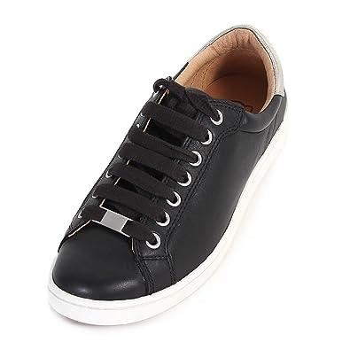 5b5ecd76be9 UGG Women's Milo Leather Lace Up Trainer Black: Amazon.co.uk: Shoes ...