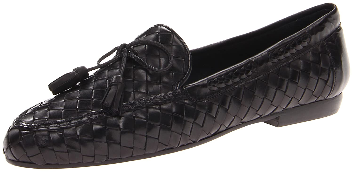 Sesto Meucci Women's Neda Slip-On Loafer B000P4Y2CI 9.5 N US|Black Stained Calf