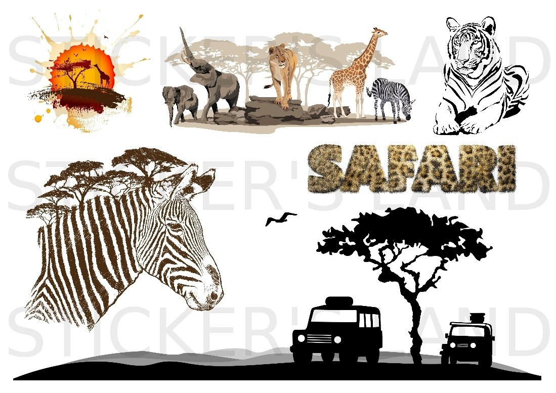 Stickers Decoratifs Afrique A Decouper Planche A Stickers
