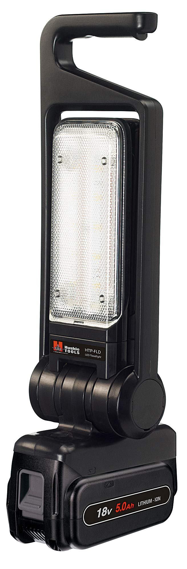 Huskie Tools HTP-FLD-1 Battery-Operated LED Flood Light with Battery and Charger
