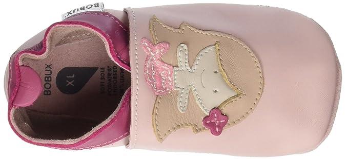 BOBUX - Babucha Rosa de Cuero Natural Transpirable, con elástico Alrededor del Tobillo Que impide la caída de la Misma, Bebé Niña: Amazon.es: Zapatos y ...