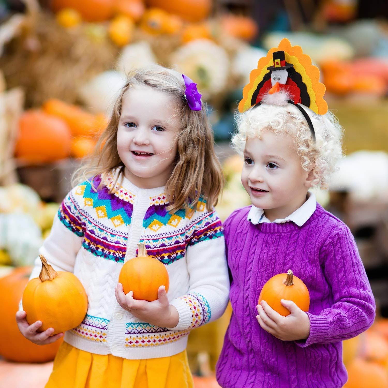 WILLBOND 4 Paquets Bandeau de Thanksgiving Costume de Bandeau de Dinde D/écoration de Bandeau de Thanksgiving pour Fournitures de F/ête Festival de Thanksgiving