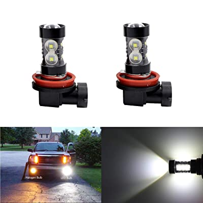 Super Bright H11 H8 H16 LED Fog Spot Light Bulbs High Power 50W CREE 6000K White LED High Low Beam Bulb Fog Lights Lamps: Automotive