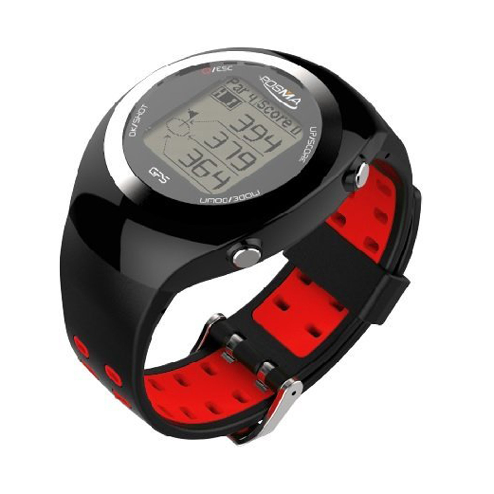 POSMA GT2 Golf Watch with GPS, Golf Rangefinder Activity Tracker Watches, Preloaded Golf Courses, No Download - RED by POSMA