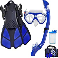 Aisrida Kids Snorkeling Set Children Mask Fin Snorkel Set Snorkeling Gear Snorkel Mask + Adjustable Swimming Kids…