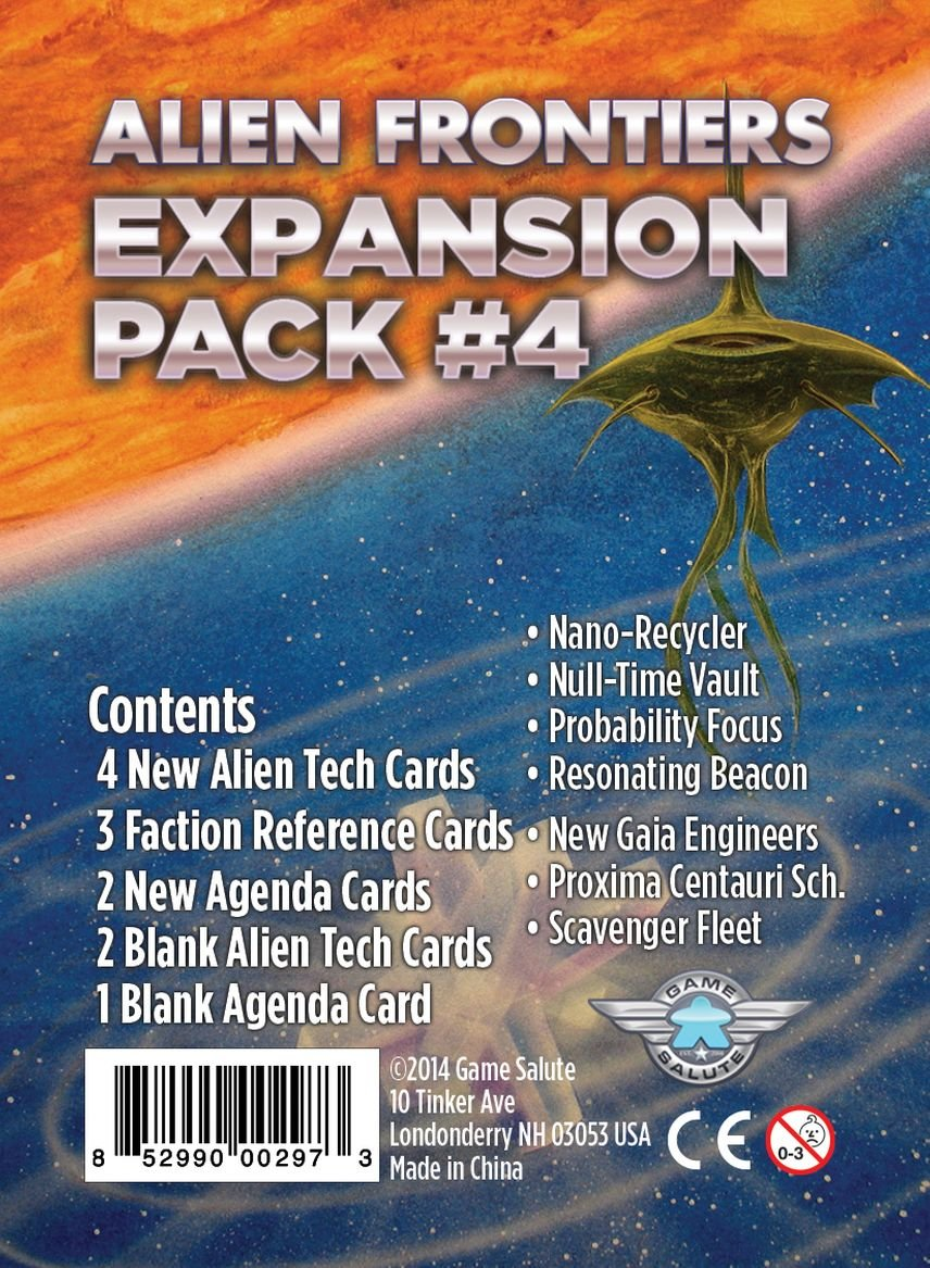 R D Games Alien Frontiers Expansion Pack #4