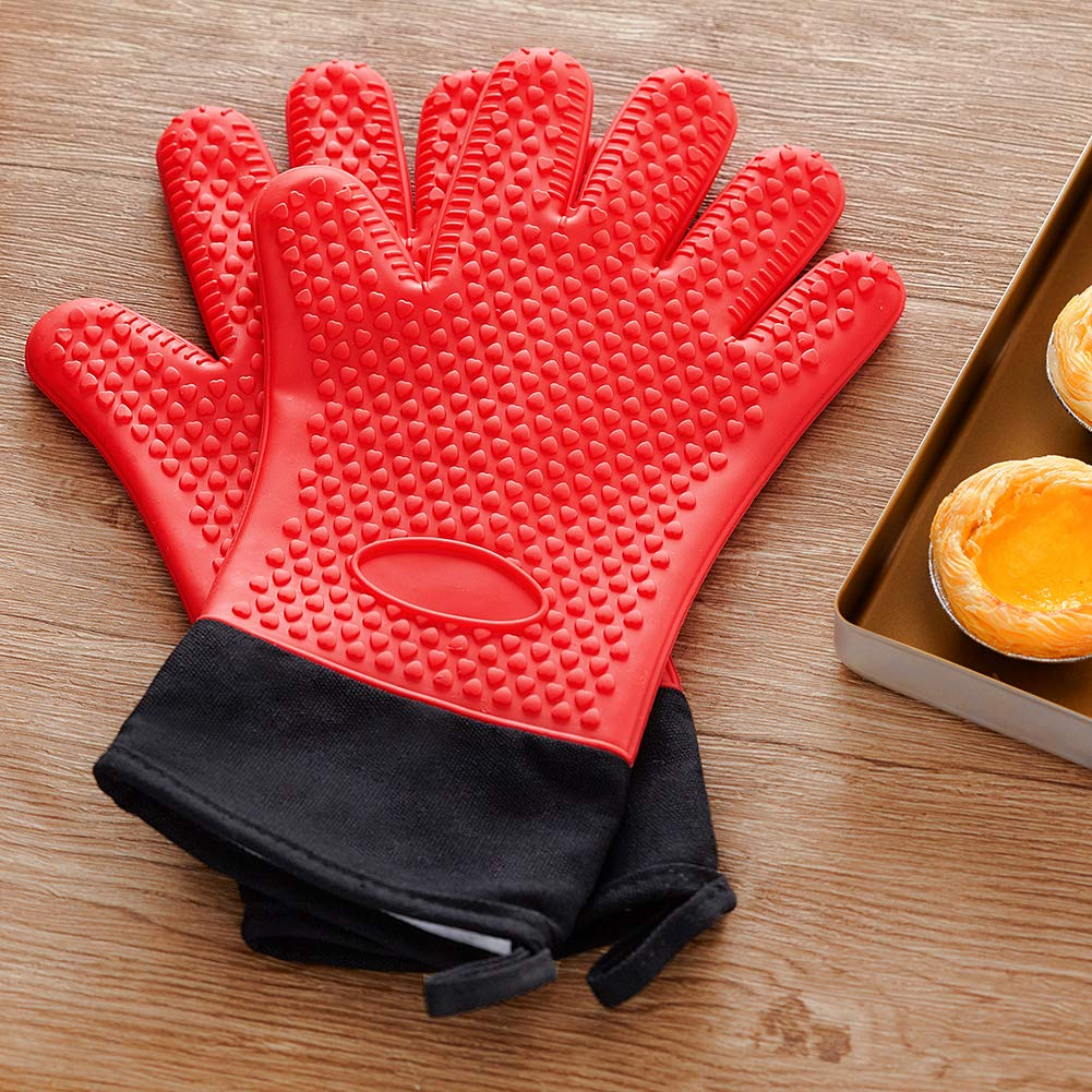 Kitchen Oven Mitt Oven Gloves Heat Resistant Pot Holder Pad Protective Potholder