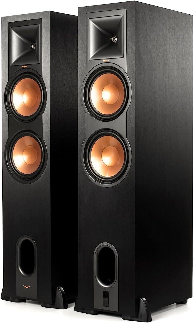 Klipsch R-28PF Surround Powerful Floor Standing Speaker   Set of 2 - Black