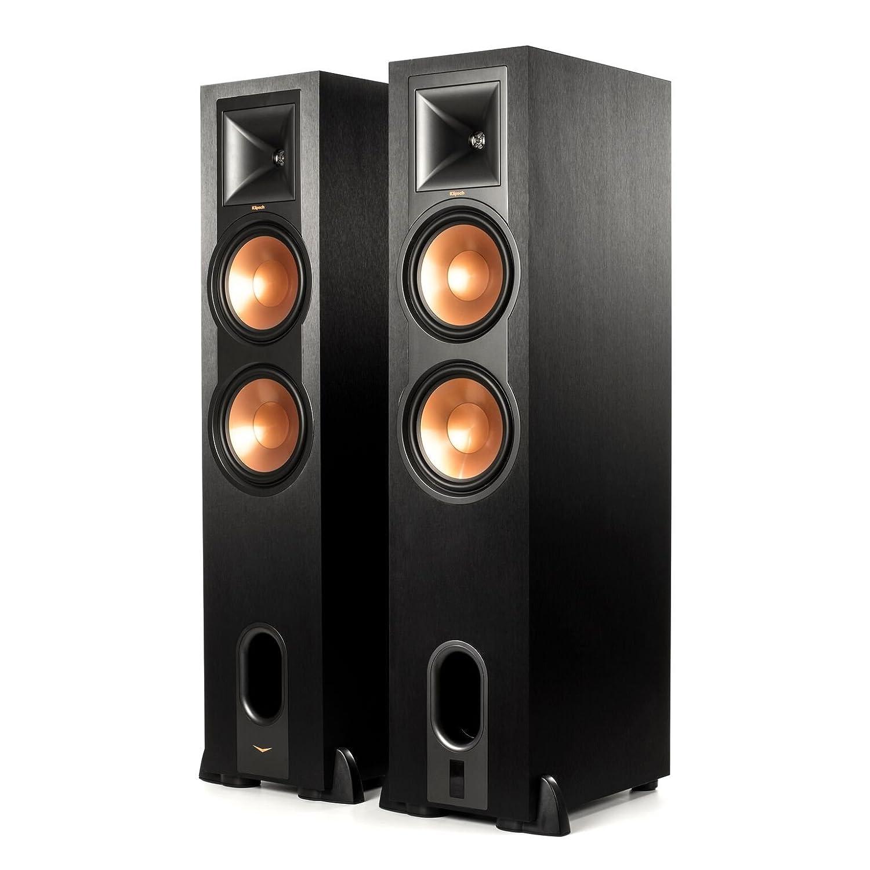 Klipsch R-28PF Surround Powerful Floor Standing Home Speaker, Set of 2, Black