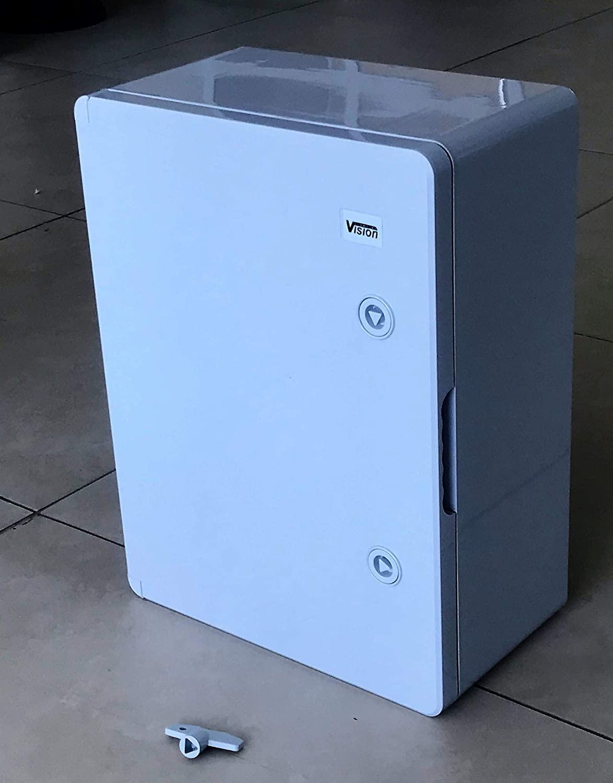 WALL BOX WEATHERPROOF IP65 LOCKABLE ABS ENCLOSURE WITH TRANSPARENT PC DOOR 20X30X13