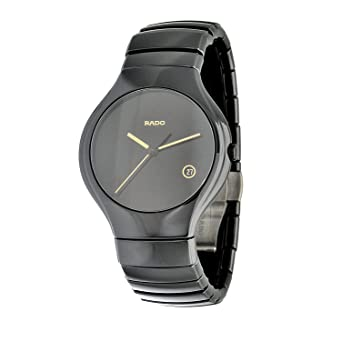 9b8fbe44ca1 Image Unavailable. Image not available for. Color  Rado Men s R27653172 True  Jubile Polished Black Ceramic Watch