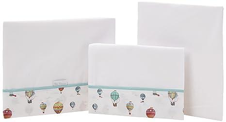 Petit Lazzari Balloons - Juego de 3 sábanas para capazo ...