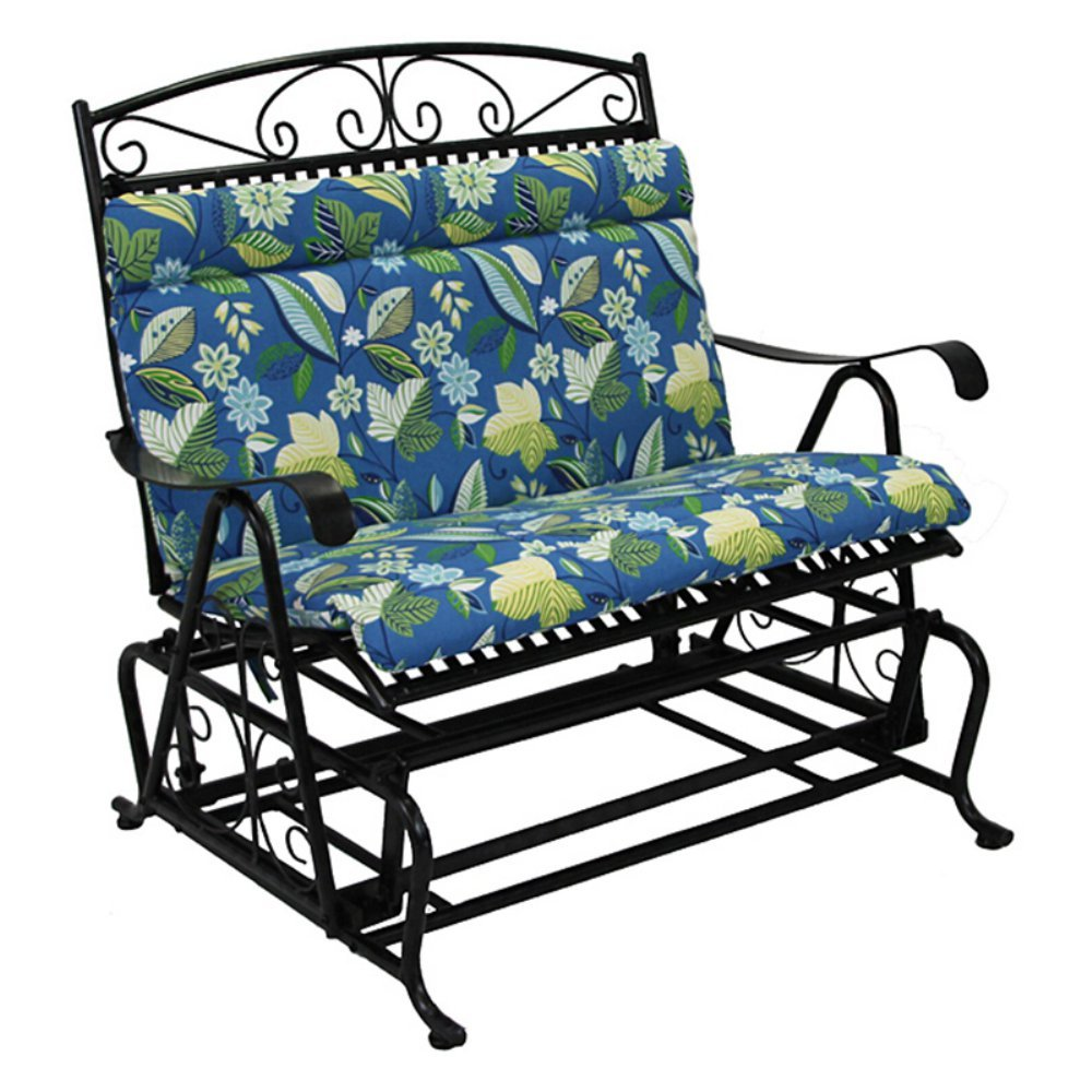 Amazon.com : Outdoor Loveseat Glider Cushion Color: Skyworks Caribbean  Cushion Only : Patio Furniture Cushions : Garden U0026 Outdoor Part 40