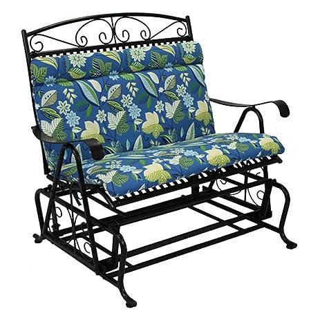 Outdoor Loveseat Glider Cushion Color: Skyworks Caribbean Cushion Only