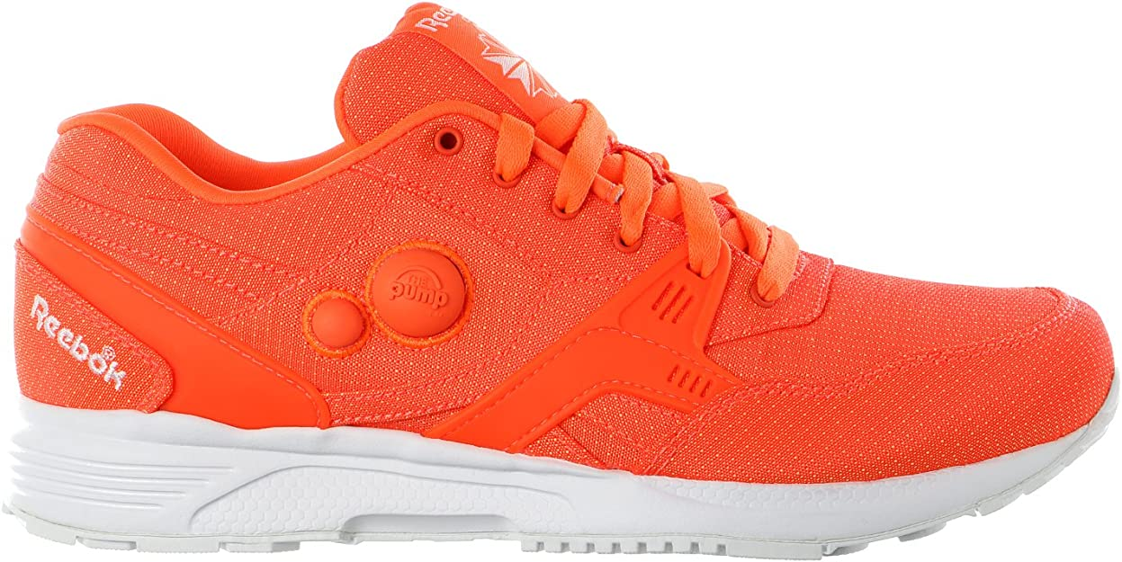 Reebok Pump Running Dual Tech - Zapatillas de Running para Hombre, Color Naranja y Blanco: Amazon.es: Zapatos y complementos