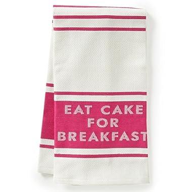 Kate Spade All in Good Taste Eat Cake for Breakfast Set of 2 Dish Towels