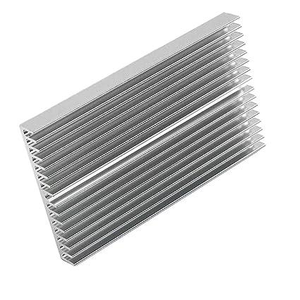 Magideal Microprocesador de Aluminio Disipador de Calor Radiador Para Transistor de Poder de IC LED -