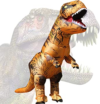 Oferta amazon: JASHKE Disfraz Dinosaurio Inflable T-Rex Disfraz Halloween Adulto Disfraz Cosplay Disfraz Fiesta Disfraz