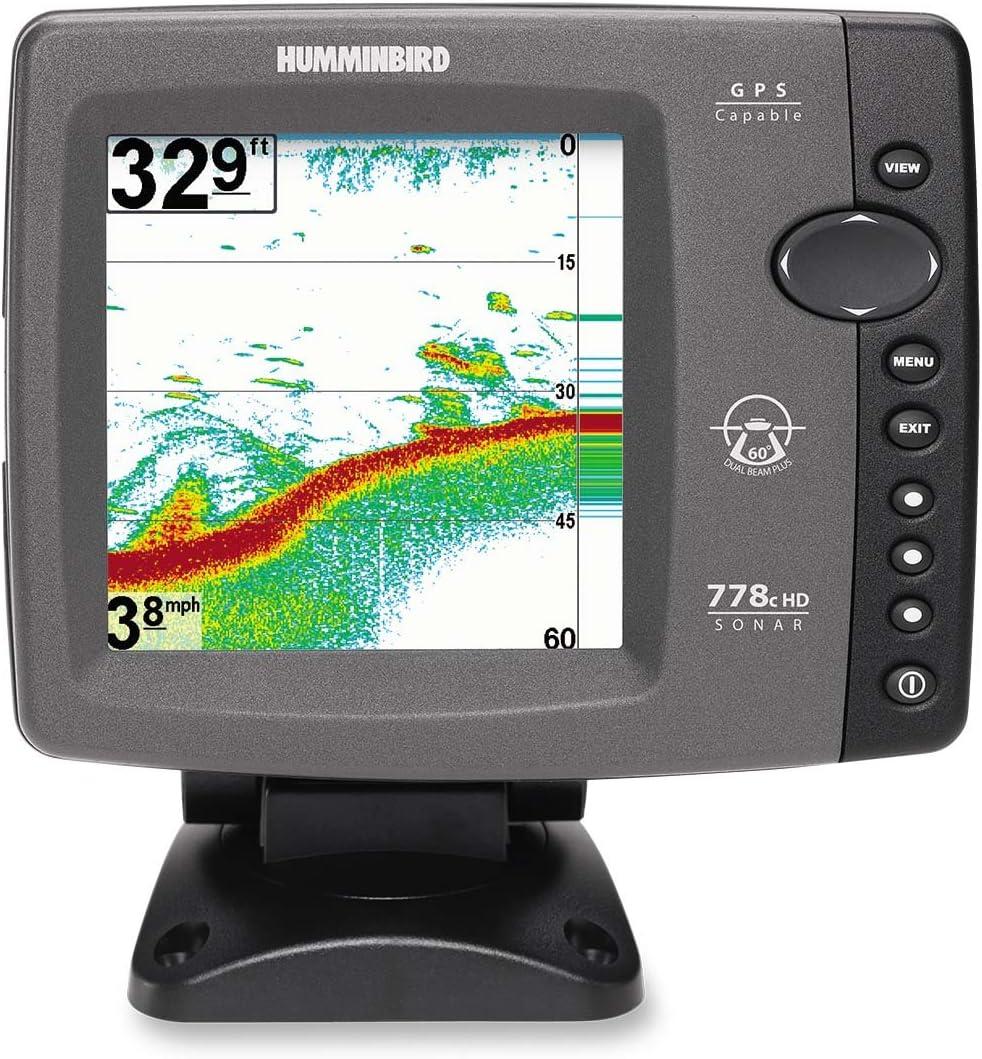 PiranhaMax 4 DI Down Imaging Humminbird Echolot Komplett mit Geber Fischfinder