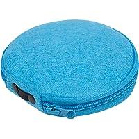 Elezay Round Felt 20 Capacity CD Case DVD Storage CD Wallet CD Holder, Blue