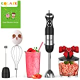 Immersion Hand Blender Handheld, COLAZE【5-in-1】800W 12 Speed Control Multifunctional Electric Stick Blender with Stainless St