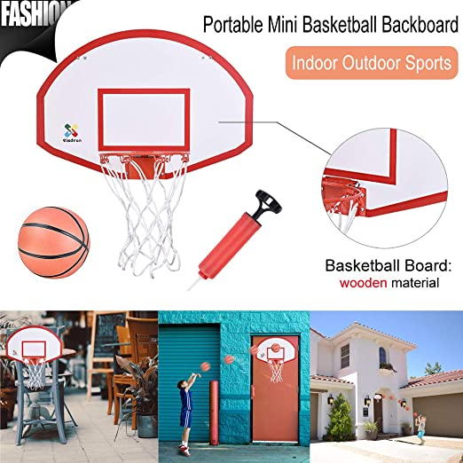 Eoeth - Mini aro de Baloncesto sobre la Puerta para Deportes ...