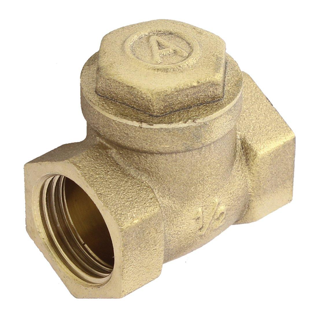 sourcingmap/® Fontaner/ía Calentador De Agua V/álvula De Retenci/ón 1//2Bsp Rosca Hembra