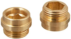 Danco, Inc. 30006E Bibb Seat, for Use with Central and Rheum Faucets, No 7, 1/2-24 Threaded, Plated, Brass