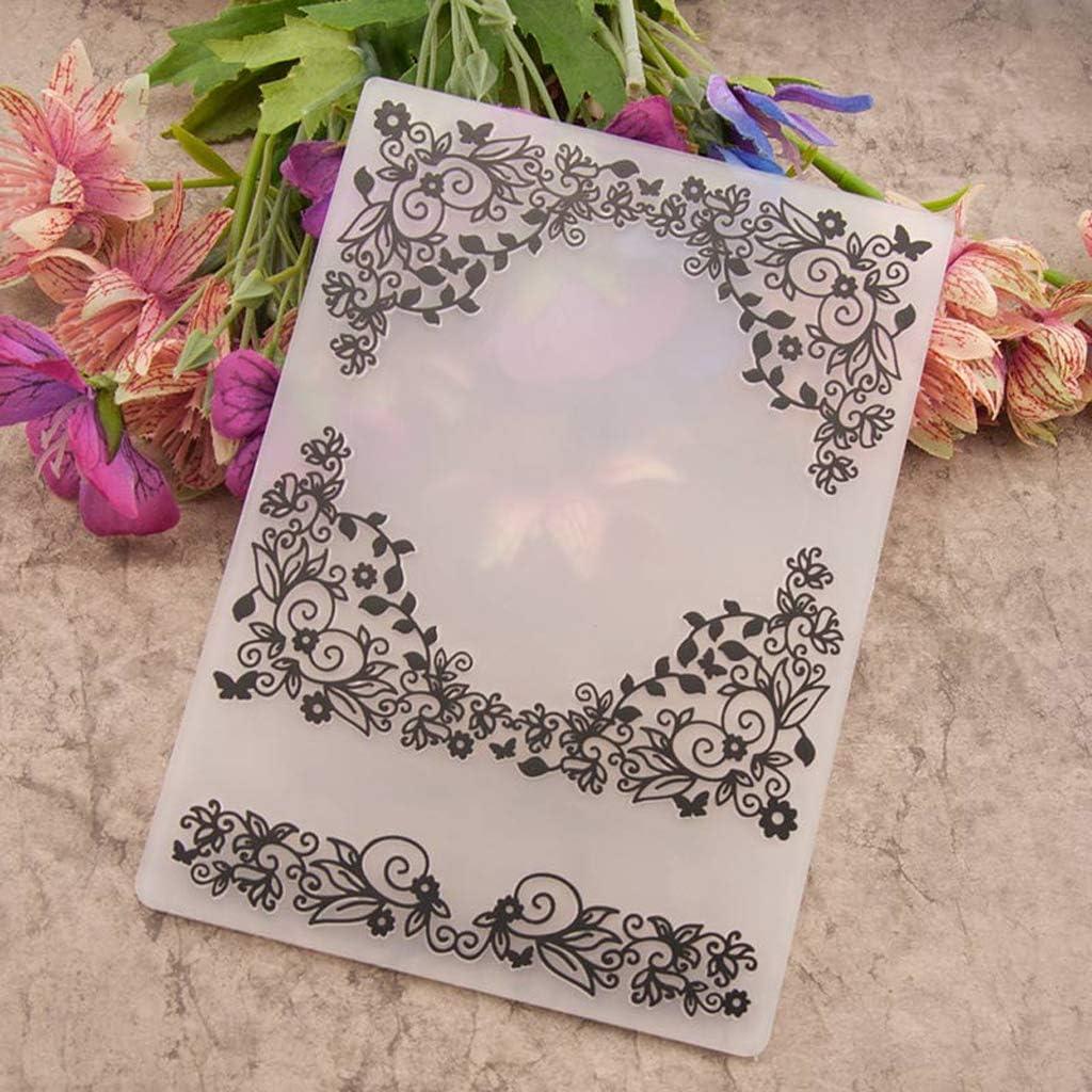 Mod/èle de Dossier de gaufrage en Plastique DIY Scrapbook Album Photo Carte Artisanat de Fleurs VIccoo Embossing Folder
