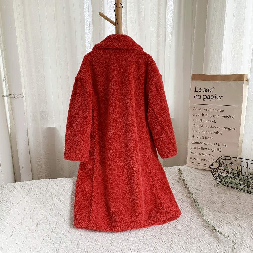 Giacca da donna alla moda, autunno e inverno, in pelliccia di pecora, calda e antivento, in pelliccia di agnello Colore: Rosso