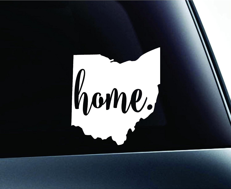 #3 Home Ohio State Columbus Symbol Sticker Decal Car Truck Window Computer Laptop (White)