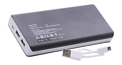 vhbw Powerbank 20.800mAh móvil, Cargador 2 Puertos con ...