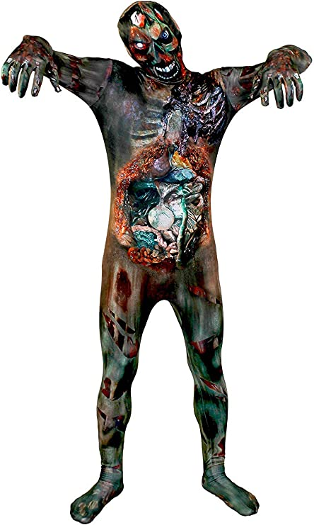 Zombie Piel Traje Disfraz Halloween - Undead ZOMBIE estampado piel ...