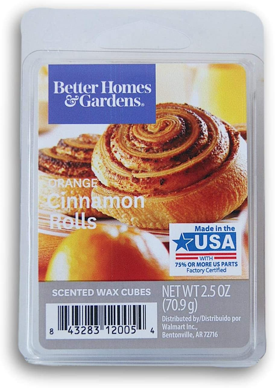Seasonal Décor Better Homes and Gardens Scented Wax Cubes - Orange Cinnamon Rolls