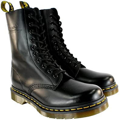 f9430307f76 Mens Dr Martens Classic 190 Black Vintage Leather Lace Up Boots ...
