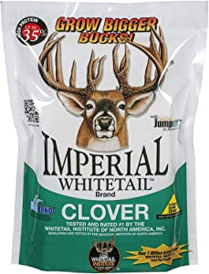 Whitetail Institute Imperial Clover Deer Food Plot Seed for Spring or Fall Planting, Promotes Antler Growth and Attracts Deer, Heat, Cold and Drought Tolerant